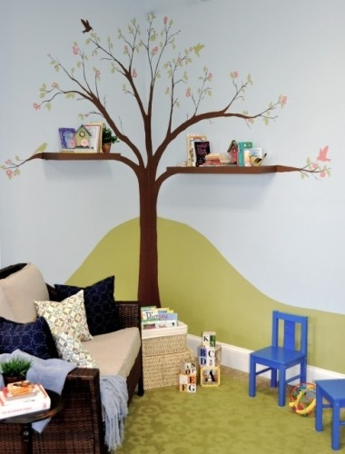 Painting trees on the walls – cool kids rooms ideas