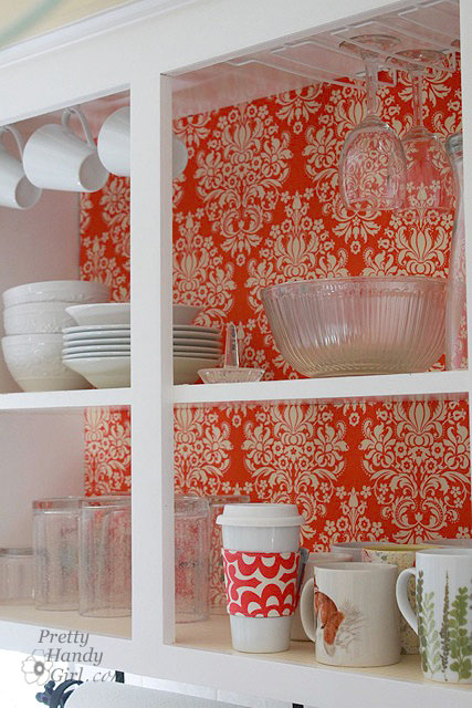 how to line the interiors of your kitchen cupboards with fabric and foam board b