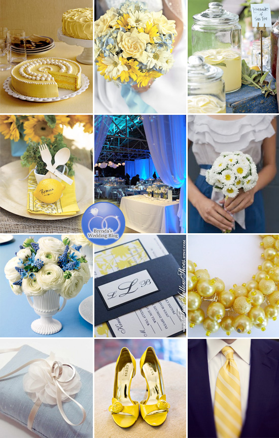 yellow blue wedding
