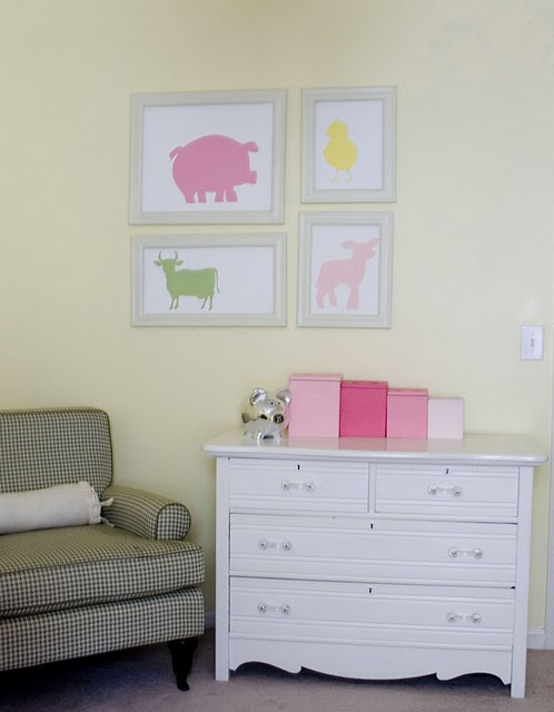 Cute DIY animal silhouette canvas paintings