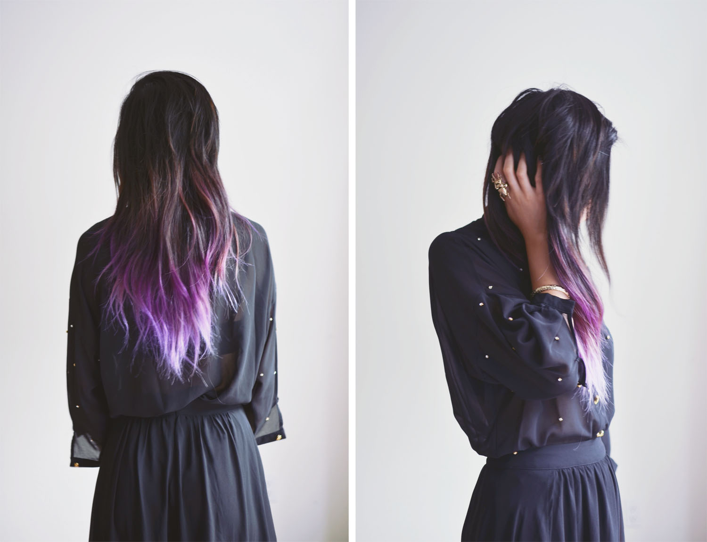 Purple dip dye #dip #dye #colorful #hair #dye