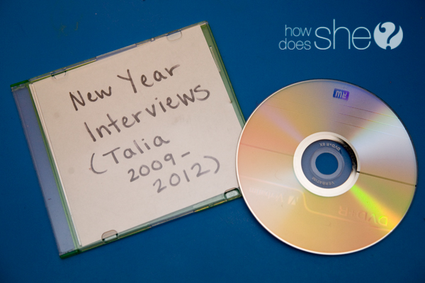 Do a yearly interview with your kids to show how they grow up from year to year.