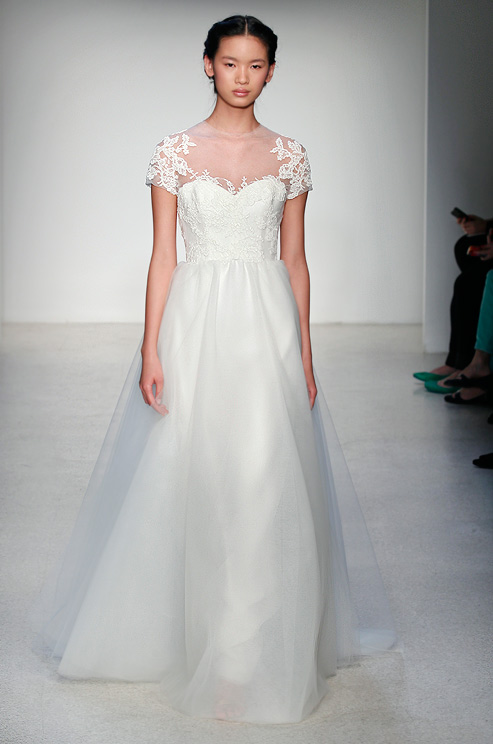 Short Sleeved Wedding Dress From Christos Fall 2013 We Know How