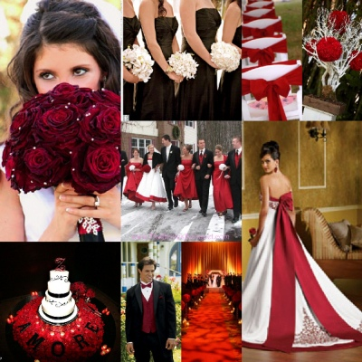 Red, White, and Black Wedding