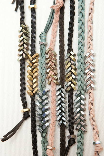 Rope & Hex Nut bracelet:The silver hex nuts are really cheap and easy to fin