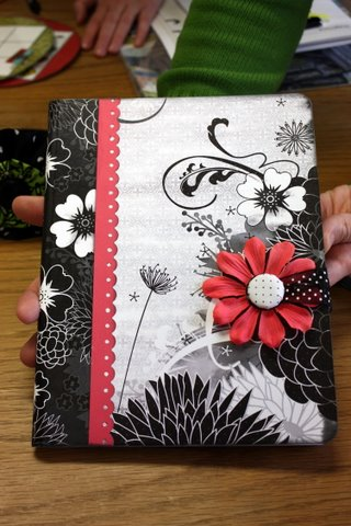 Altered composition book. Easy teen craft. Scrapbook supplies + composition book