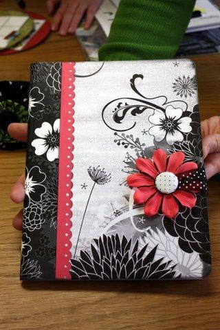 Altered composition book. Easy teen craft. Scrapbook supplies + composition book
