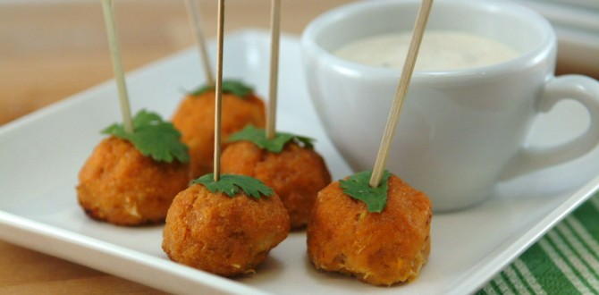 Buffalo Chicken Mini Meatballs – kids and adults love these!