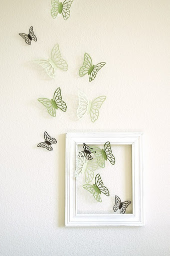 wall decor with butterflies