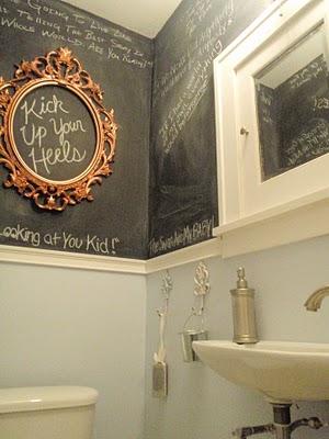 Bathroom graffiti, guest bath.