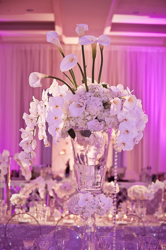 A variety of white flowers + bling = breathtaking.