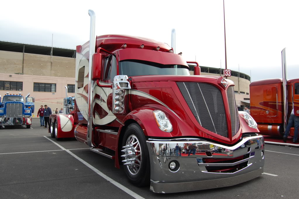 Sweet hauler….custom international!