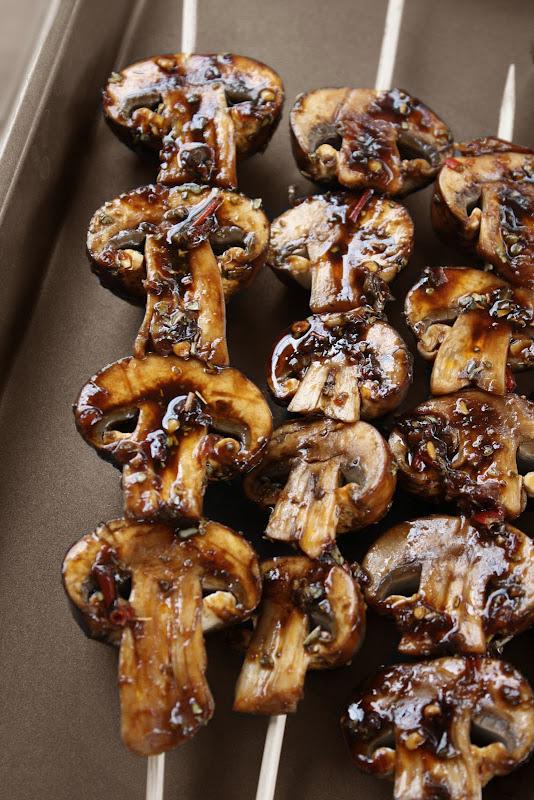 Mushroom Skewers.  These look delish!