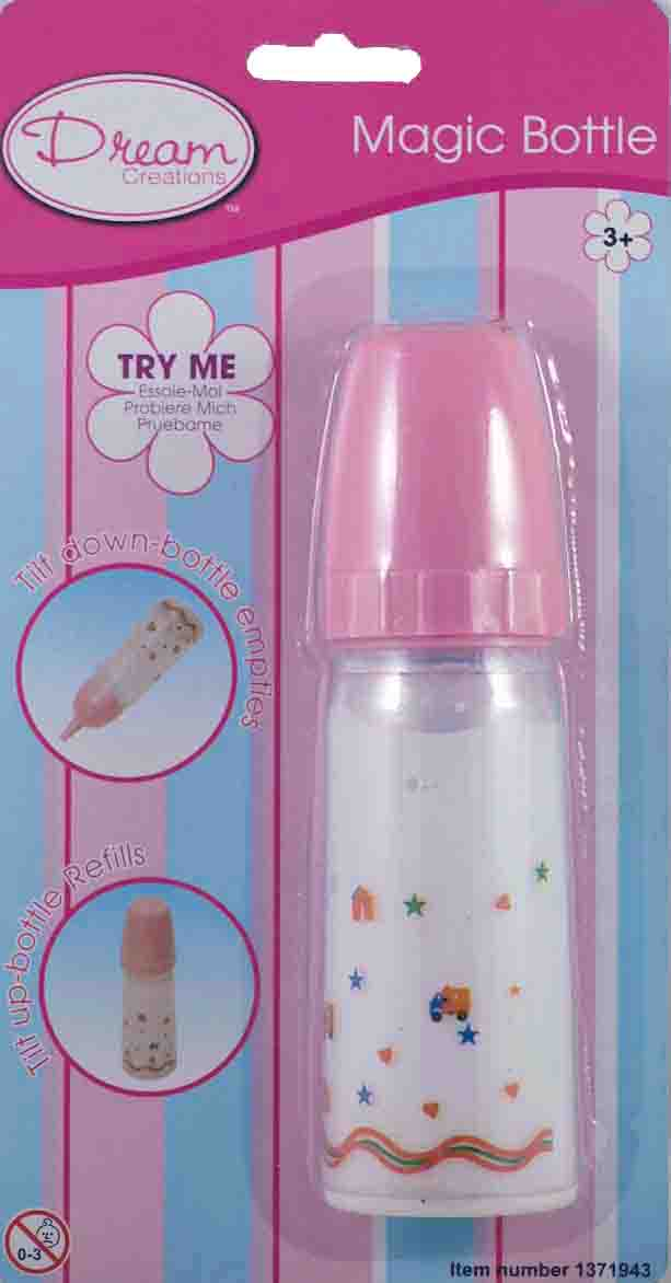 Magic Baby Bottles– the milk or OJ would disappear as the doll sipped her bottl