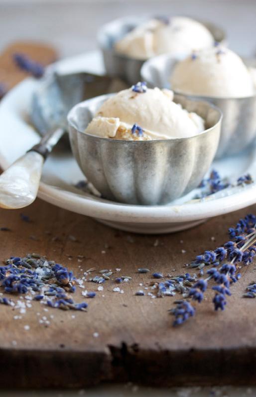Homemade Lavender Ice Cream, interesting.