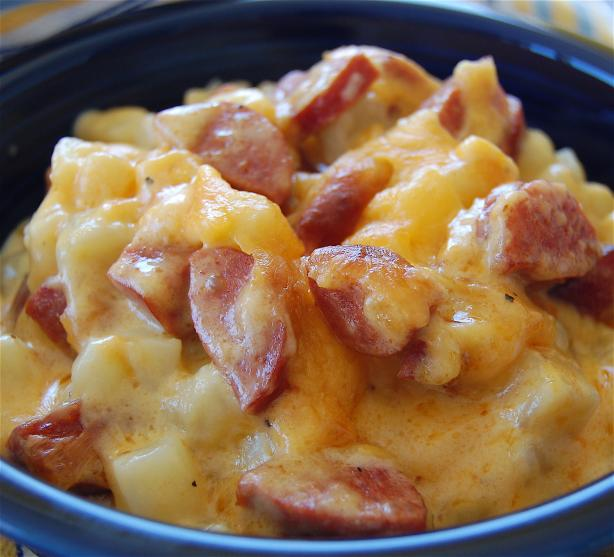 Cheese Potato & Smoked Sausage Casserole