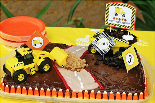 digger birthday cake instructions