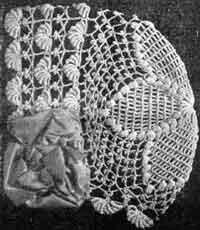 Childs Crocheted Bonnet w/ Star Crown