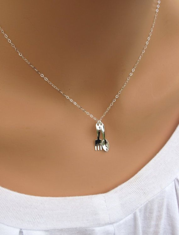 Fork and Spoon necklace - too cute!!! -   Fork and Spoon Jewelry Collection