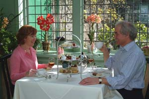 Victoria afternoon tea, Butchart Gardens