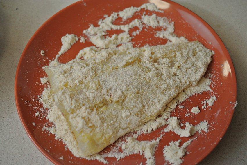 Coat in coconut flour