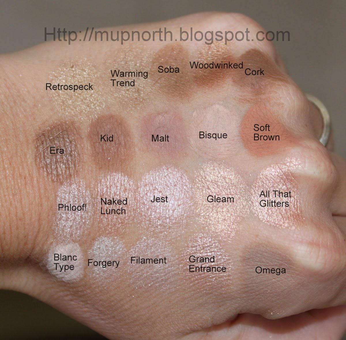 Mac Eyeshadow Swatches: Light Neutrals