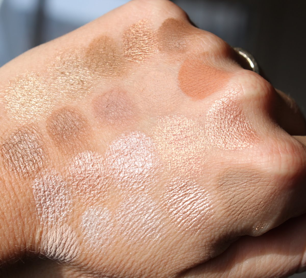 Mac Eyeshadow Swatches: Light Neutrals