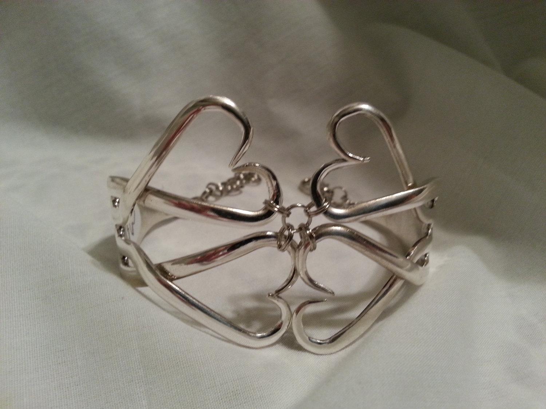 Fork Bracelet Silverware Jewelry Spoon by jamessilverspoon -   Fork and Spoon Jewelry Collection