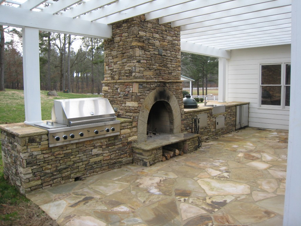 Outdoor Stone Fireplace Kits outdoor fireplace kits for the diyer ... -   Outdoor Fireplace Ideas