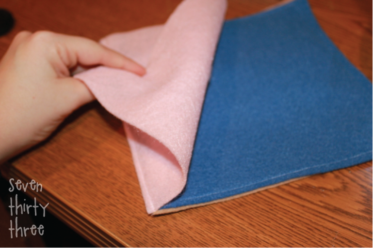 binding for a felt quiet book
