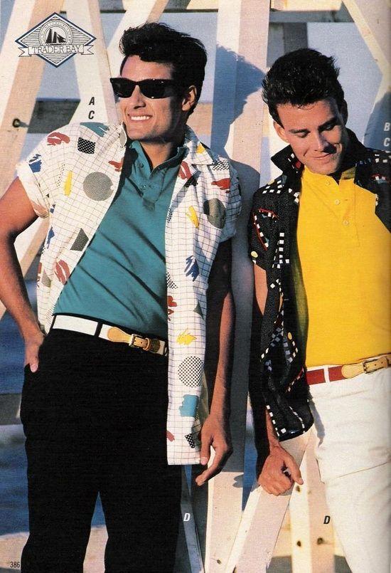 80s Men's Fashion -   1980's Style