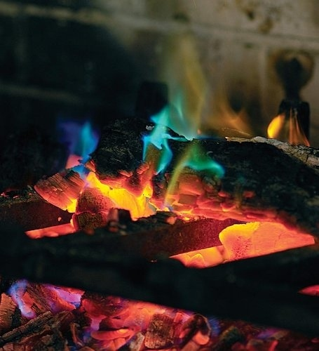 25. Get some rainbow fire crystals for your fire pit. -   32 Cheap And Easy Backyard Ideas