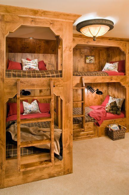 Custom built-in bunk beds