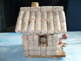 wine cork bird house
