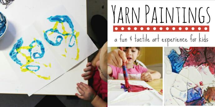 Yarn Art For Kids – String Blots and Yarn Paintings
