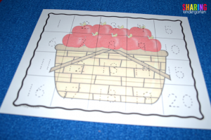 A is for Apple: Number Writing Mat