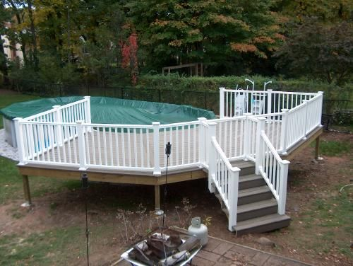 Building Above Ground Pool Deck