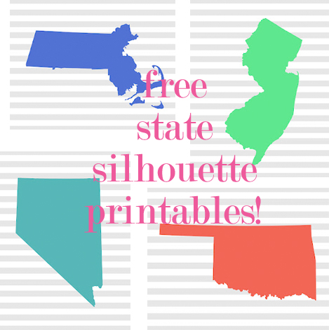 Free State Silhouette Printables