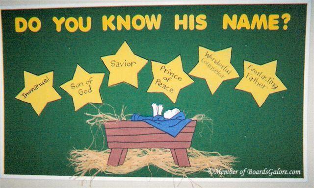 christmas bulletin  board ideas for sunday school
