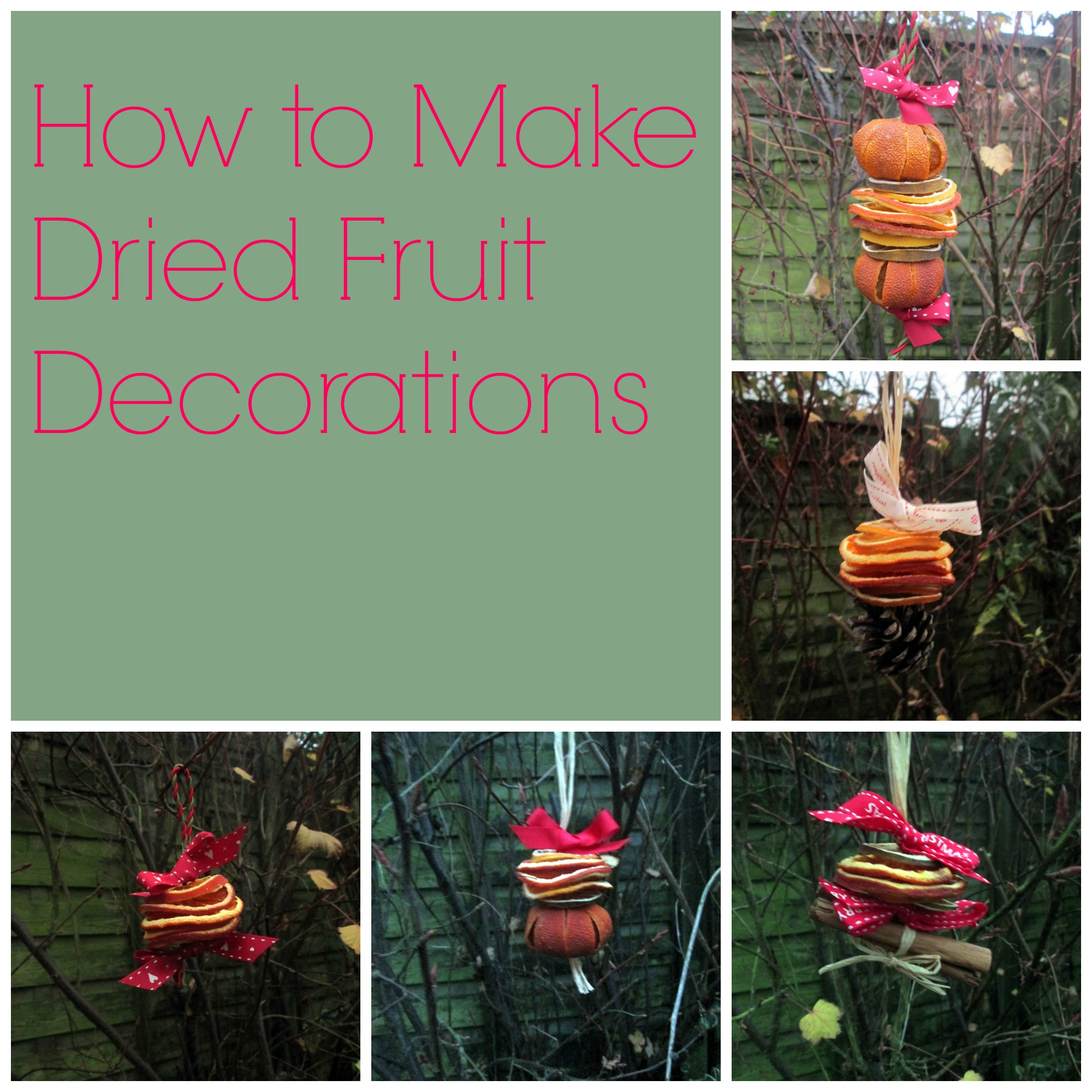 Dried Fruit Decorations -   Christmas Craft Tutorials