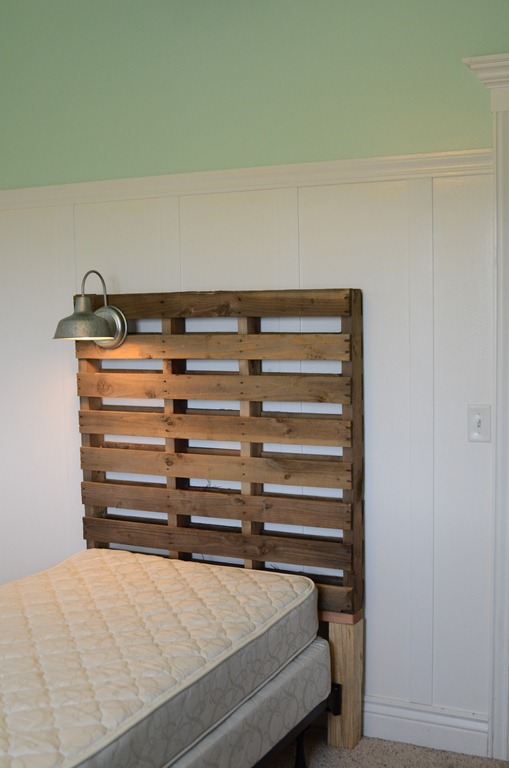 How to attach DIY headboard to frame