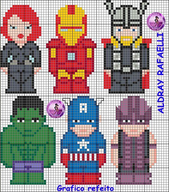 Avengers perler bead patter