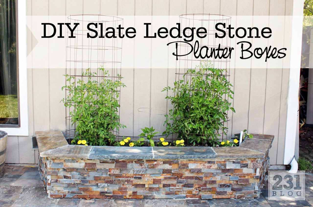 Diy Slate Ledge Stone Planter Boxes We Know How To Do It