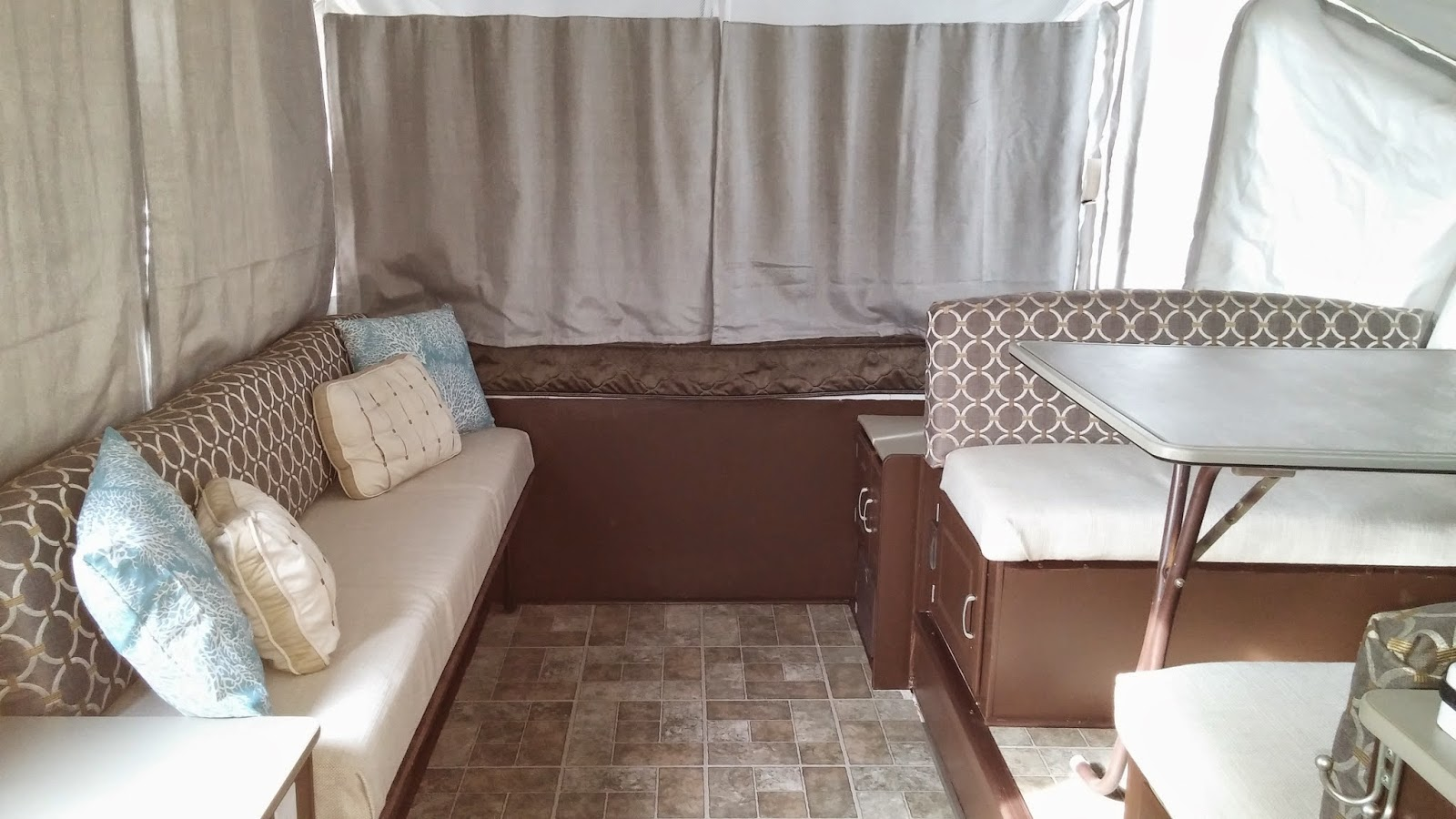 This is our one week pop-up camper remodel!