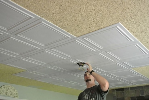pros cons ceiling tile ideas affordable decor