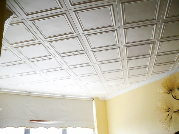 inexpensive ceiling tile ideas