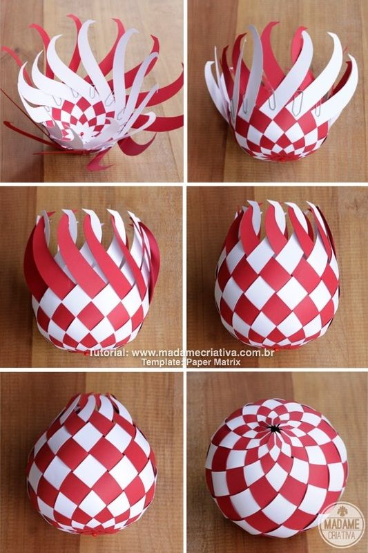 DIY paper Balls tutorial! So beautiful! Im totally making this for Christmas!