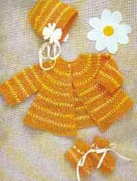 Crocheted Baby Set for 6 Months