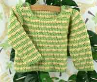 Devon Striped Baby Sweater