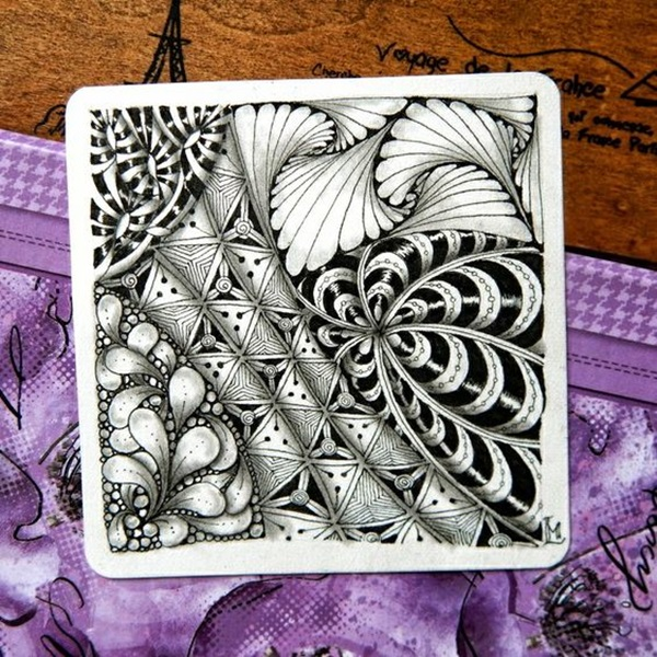 Beautiful Zentangle patterns